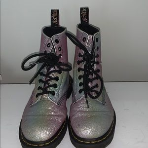 Rainbow glitter Dr. Marten boots